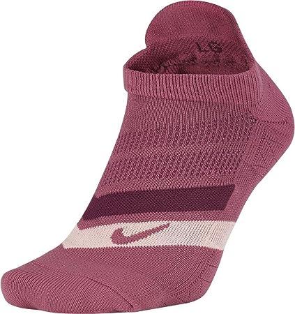 Nike sx5466 – 623 – Calcetines de Correr Unisex, Color Vin Vintage/Corail Délavé