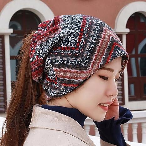 c7943720dd171 YXLMZ Señoras Mujeres Sombreros Primavera Summer-Cap Turbante Hat Conjunto  de Cabeza Hueca de Tapas