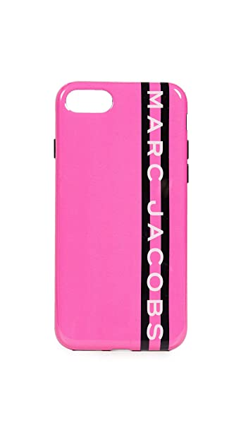 online retailer 680f4 ee451 Amazon.com: Marc Jacobs Webbing iPhone 7/8 Case, Pink Multi, iPhone ...