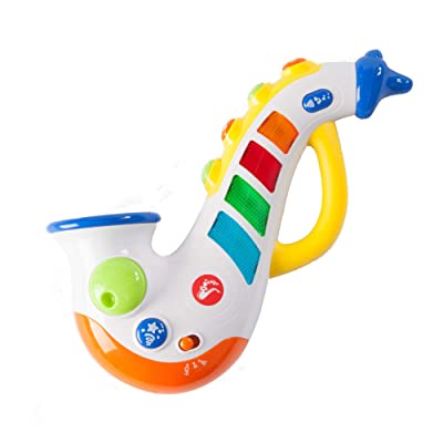 Fat Brain Toys Rockin' Light Up Saxophone Baby Toys & Gifts for Ages 1 to 3: Toys & Games