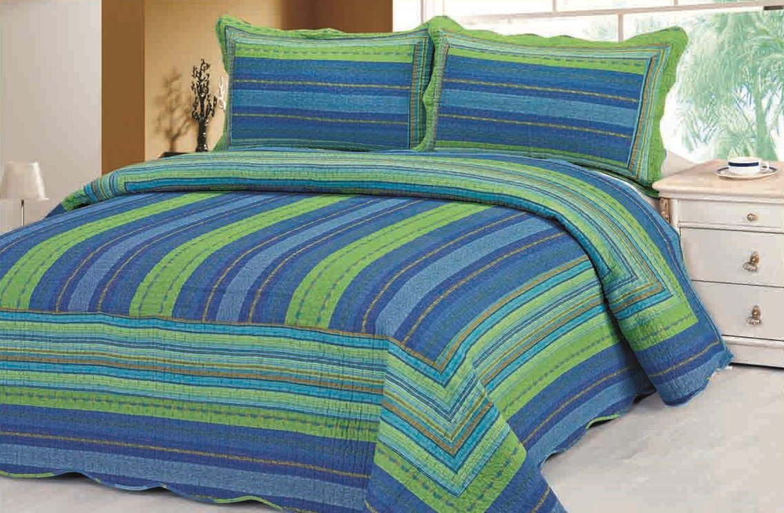 Cotton Reversible Quilt Set 3pcs