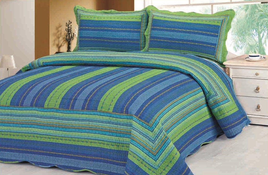 Cotton Reversible Quilt Set 3pcs