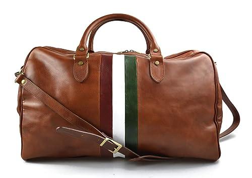 Bolsa de viaje piel mujer hombre bolso de equipaje bandera ...