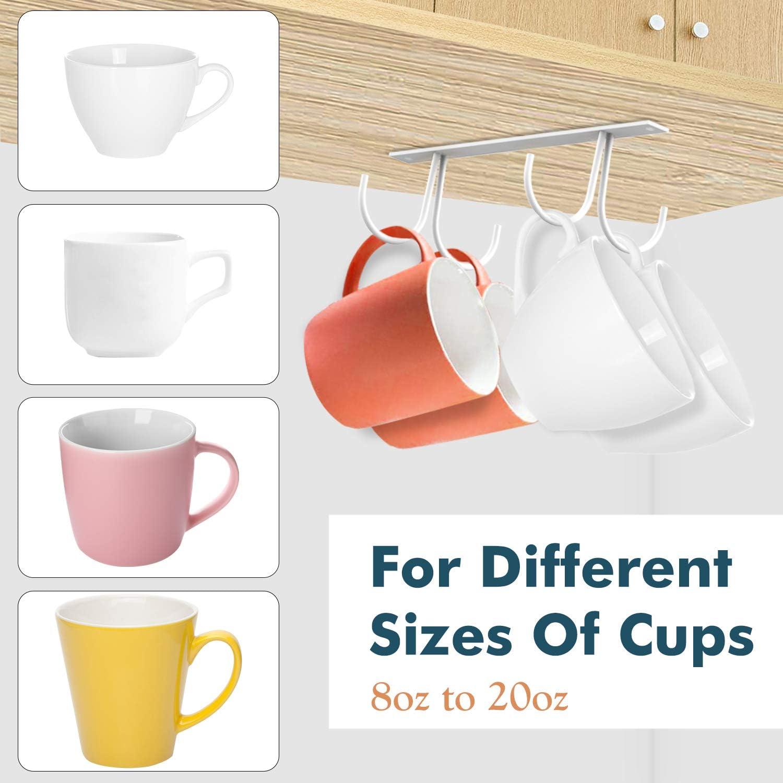 Negro Tazas de Caf/é Utensilios de Cocina Estante de Almacenamiento Multifuncional para Colocar Tazas Botellero de Pared Durable con 4 Ganchos Housolution Soporte de Taza de Hierro, 3 Piezas