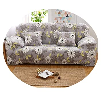 Amazon.com: Florals Elastic Slipcover Sectional Sofa Covers ...