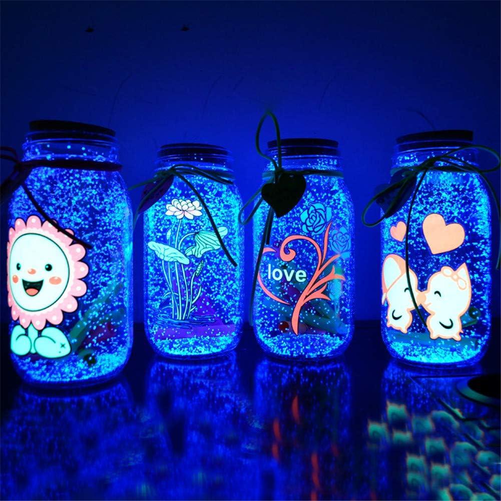 Vert Glow in The Dark Sand Sable Lumineux et Brillant 1 pi/èce de Particules de Sable Lumineuses pour Bouteille /à bricoler