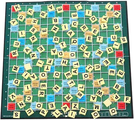 Letway Juego de Inteligencia para niños Juego de Scrabble en inglés Hechizo con Letras en inglés Aprendizaje de Palabras Ayudas para la enseñanza Aumenta la Memoria Juego Interactivo de Reasonable: Amazon.es: Hogar