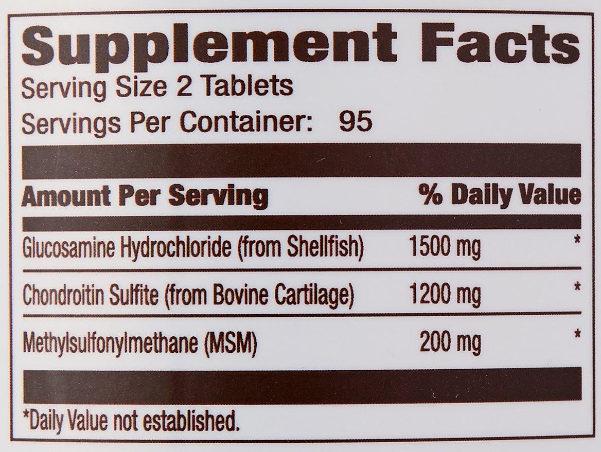Amazon Brand - Amazon Elements Glucosamine Complex, Glucosamine Chondroitin MSM, 190 Tablets, 3 Month Supply by Amazon Elements (Image #3)
