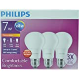 Philips 7W - 3pcs LED Bulb -60W Traditional