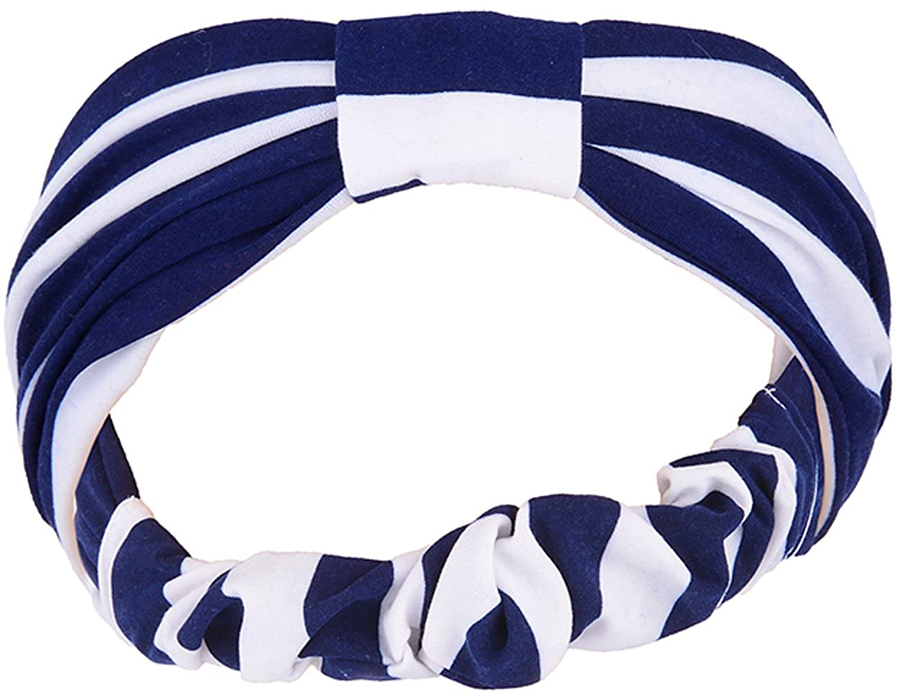 Blau Rockabilly Stirnband Striped ELLI Sailor STREIFEN Haarband