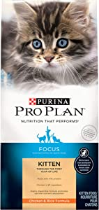 Purina Pro Plan Focus Chicken & Rice Formula Dry Kitten Food, 3.5 lbs.