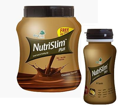 Nutrislim Powder 500gm Nutrislim 60 Capsules Chocolate Flavor