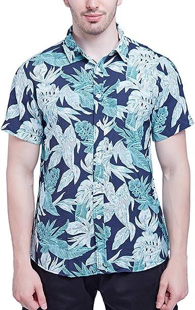 ACEBABY Camisas Hawaianas Hombre Camiseta de Manga Corta con ...