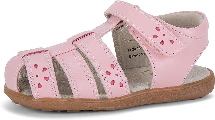 See Kai Run Fe Ankle-High Leather Sandal