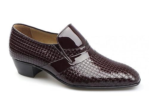 Paco Milan - Mocasines de Piel para Hombre Rojo Granate, Color Rojo, Talla 41: Amazon.es: Zapatos y complementos