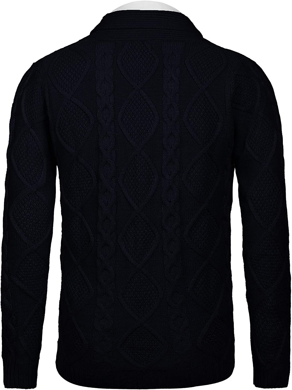 COOFANDY Mens Shawl Collar Cardigan Sweater Slim Fit Merish