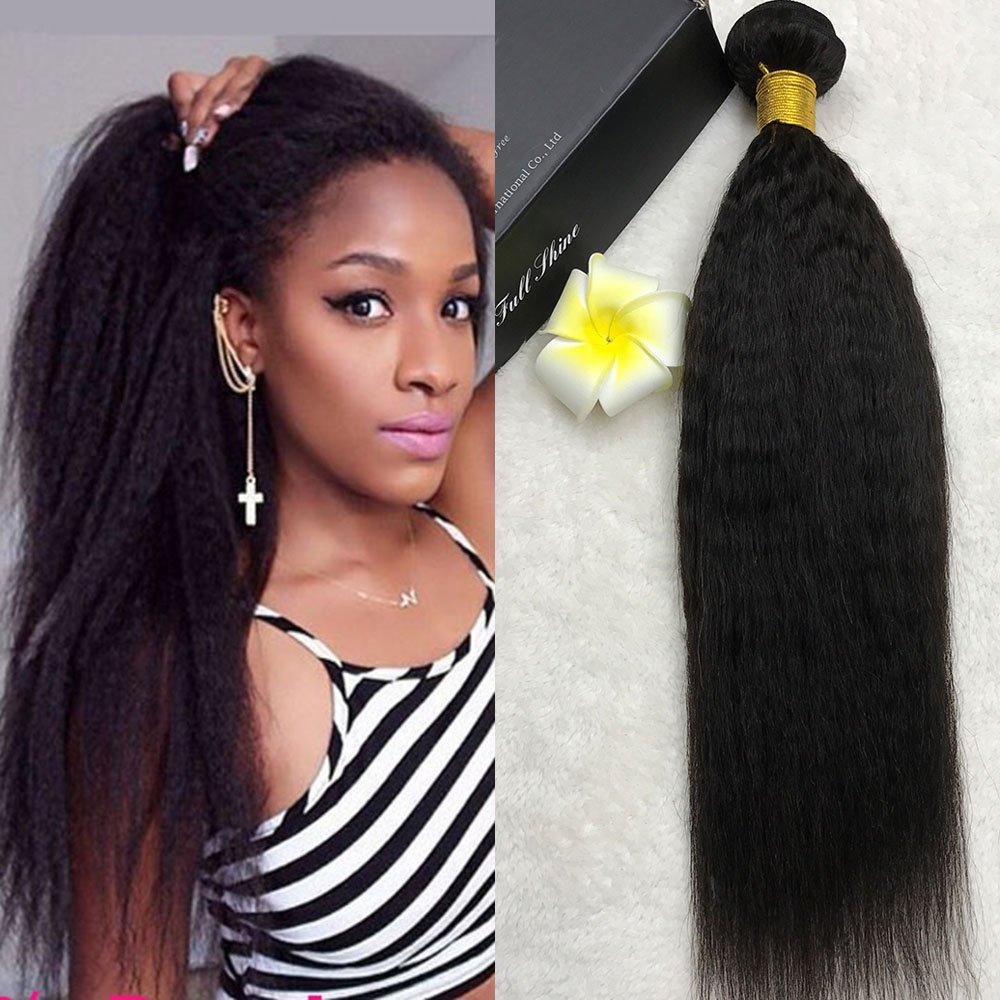 Amazon Full Shine 14 Inch Kinky Straight Brazilian Remy Hair