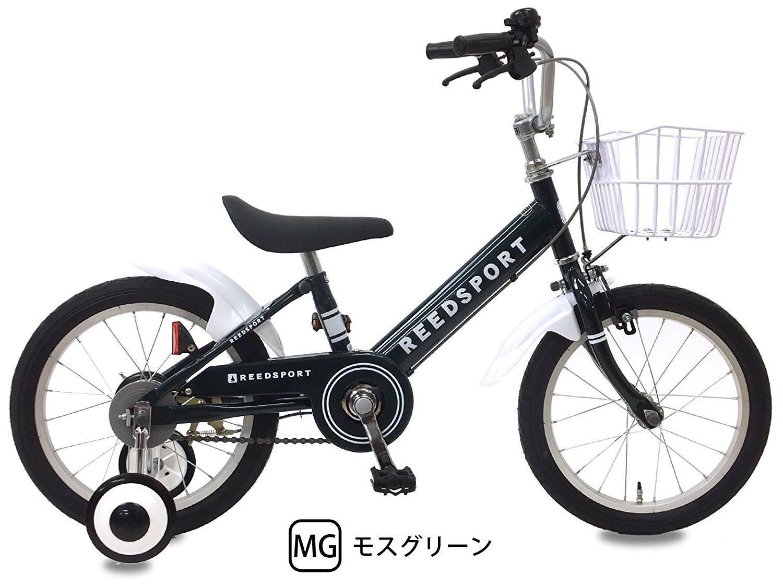 【組立済み】 リーズポート(REEDSPORT) 補助輪付き 子供用自転車 幼児自転車 B01MD0ZUZV 18インチ|モスグリーン モスグリーン 18インチ