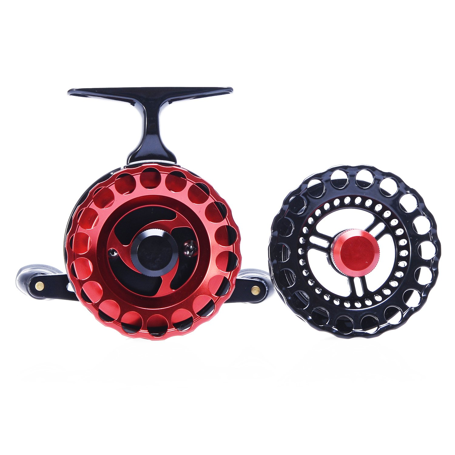 BERRYPRO Inline Ice Fishing Reel Right Left Handed Fishing Raft Wheel Ice Reels with 4 1BB Ball Bearings
