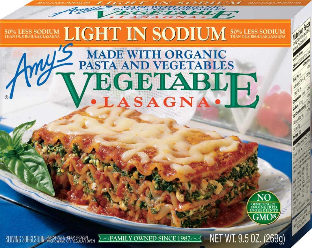 Amy's Lasagna, Light in Sodium Vegetable, 9.5 oz (Frozen)