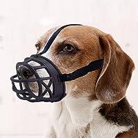 Mayerzon Dog Muzzle, Basket Breathable Silicone Dog Muzzle for Anti-Barking and Anti-Chewing