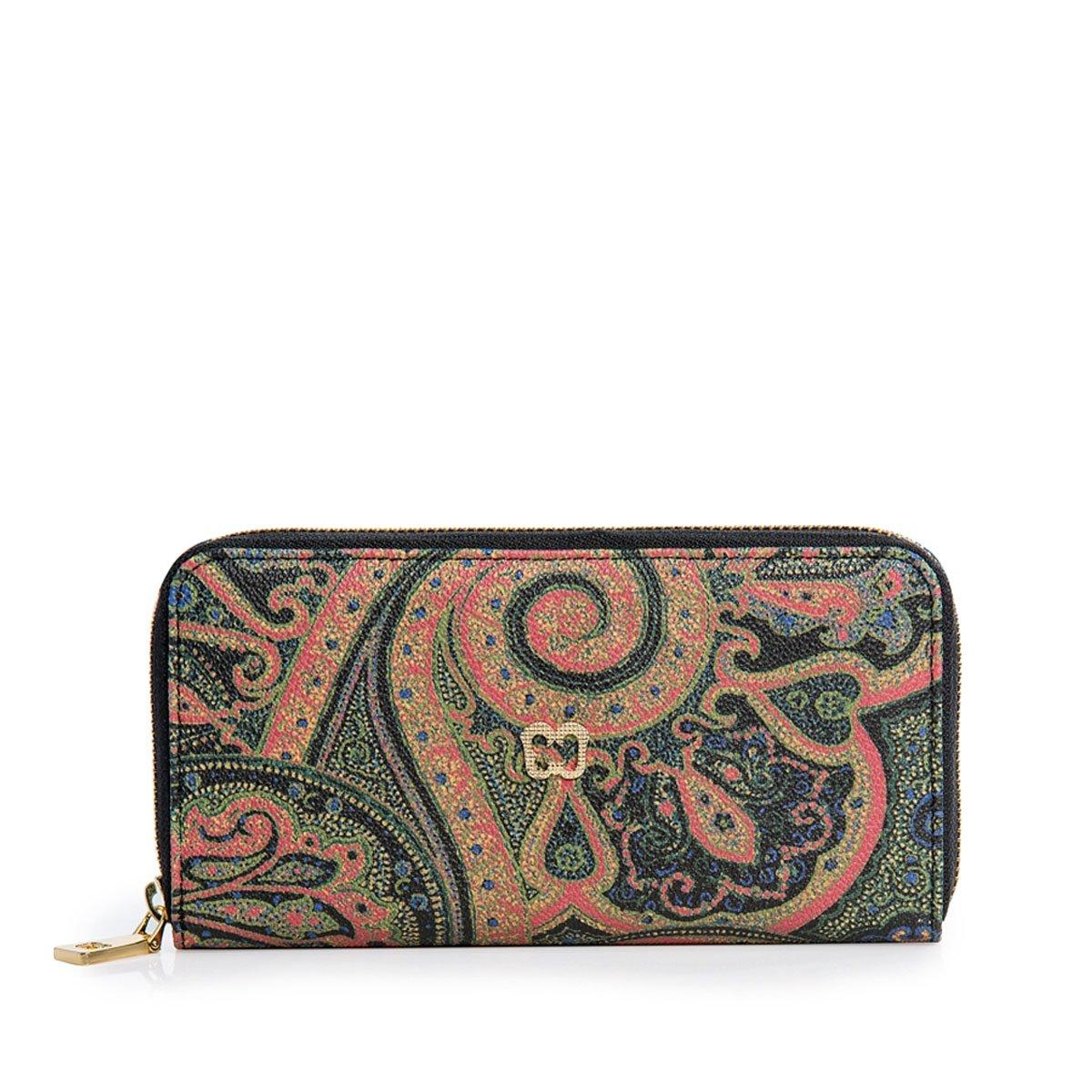 Eric Javits Luxury Fashion Designer Women's Handbag - Zip Wallet - Persia