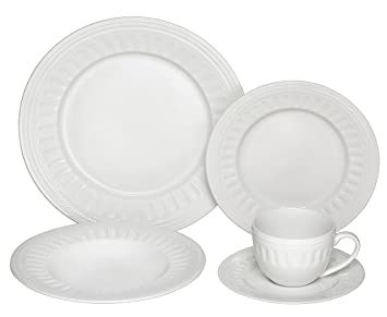 Melange 40-Piece Porcelain Dinnerware Set (English Lace) | Service for 8 |  sc 1 st  Amazon.com & Amazon.com | Melange 40-Piece Porcelain Dinnerware Set (English Lace ...