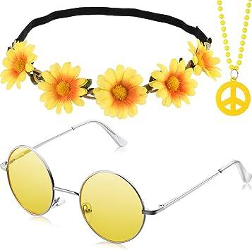 Juego de 3 piezas de accesorios para disfraz de hippie que incluye ...