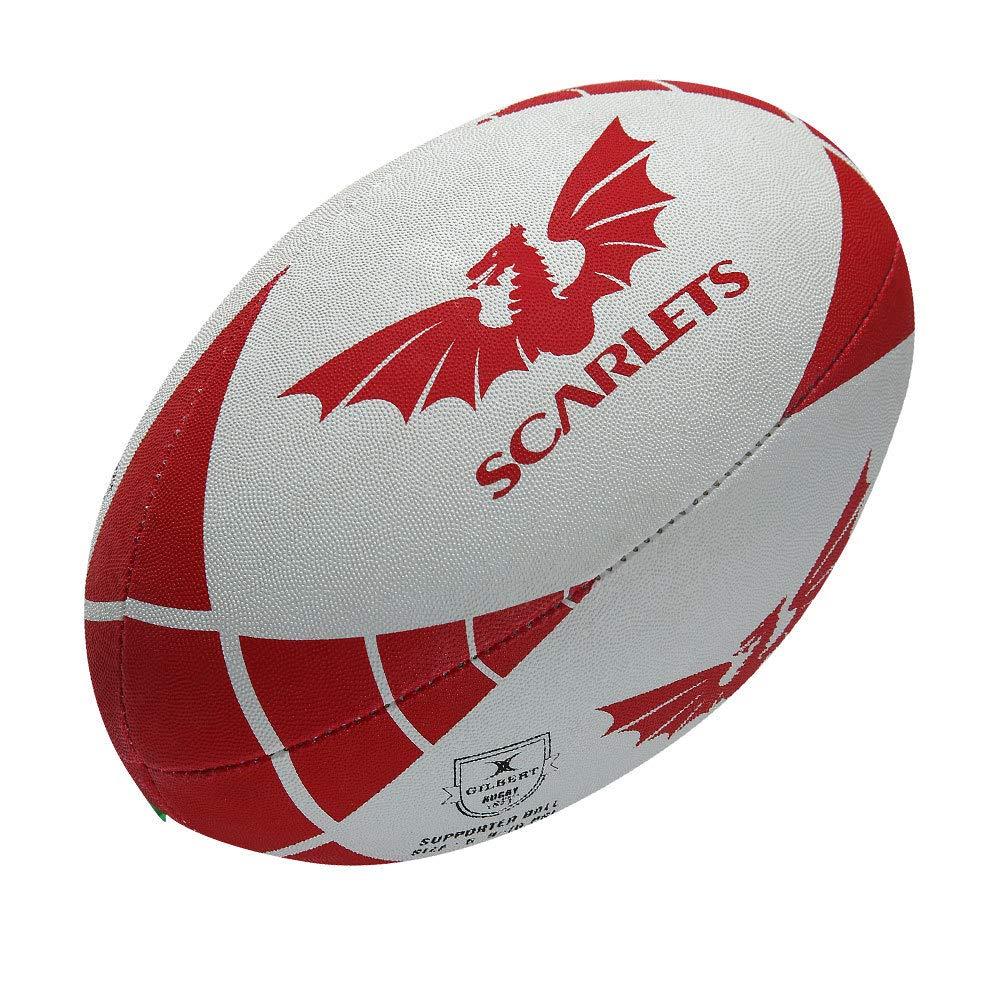 GILBERT Balón de rugby para aficionados de scarlets 2014: Amazon ...