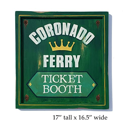 Amazon com: Coronado Ferry San Diego ticket booth Sign