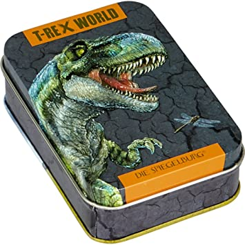 SpieSpiegelburg 14794 Juego de Cartas Mau Mau Dinosaurios T-Rex World
