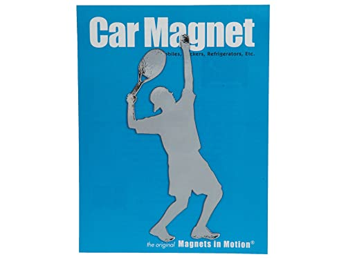 Magnets in Motion Tennis Player - Male Not Applicable Style: TENM-Silver Size: