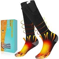 AiBast Calcetines Calefactables, Calcetines Eléctricos Calientes, con 3 Tipos De Ajustes De Temperatura, Se Mantienen…