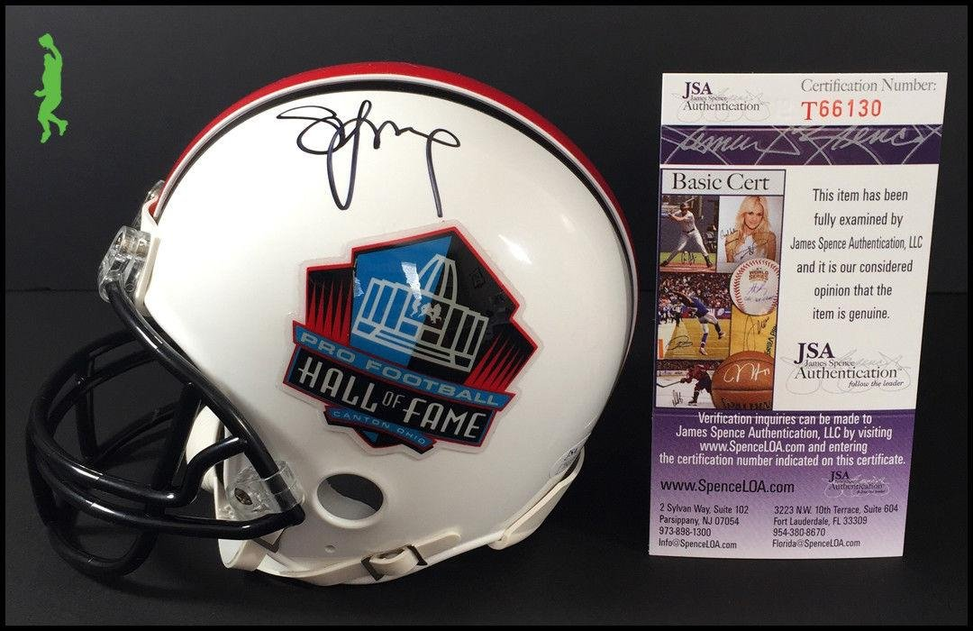 8df419208 Amazon.com  Steve Young Autographed Helmet - Hall Of Fame Hof Mini Coa - JSA  Certified - Autographed NFL Mini Helmets  Sports Collectibles