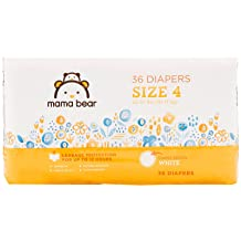 Amazon Brand - Mama Bear Diapers Size 4, 36 Count, White Print