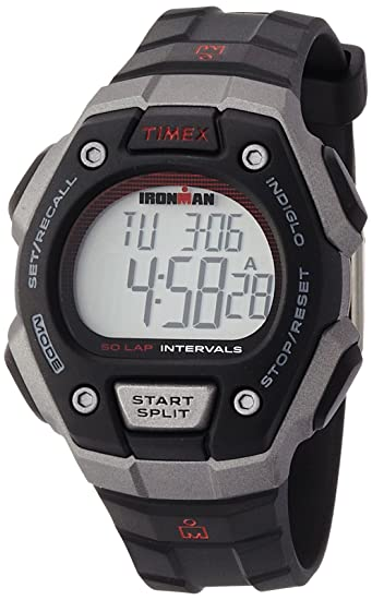 Timex Ironman Classic TW5K85900 Reloj 50 Vueltas, Negro/Plata: Amazon.es: Relojes