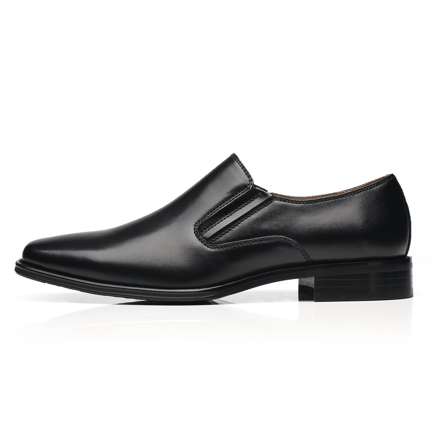 9972033df2ab9 NXT NEW YORK Leather Men Dress Shoes Plain Toe Slip On Loafer Shoes  Comfortable Classic Formal Business Shoes