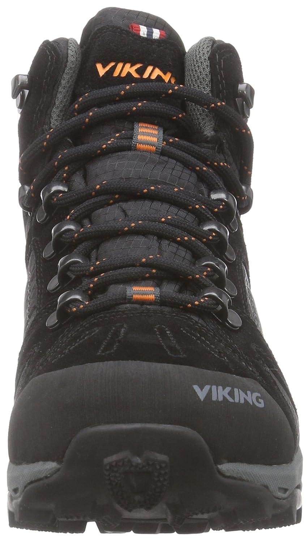 Viking 3-85120, Chaussures de Randonnée Basses Mixte Adulte - Noir - Noir (Black/Charcoal 277 277), 45 EU