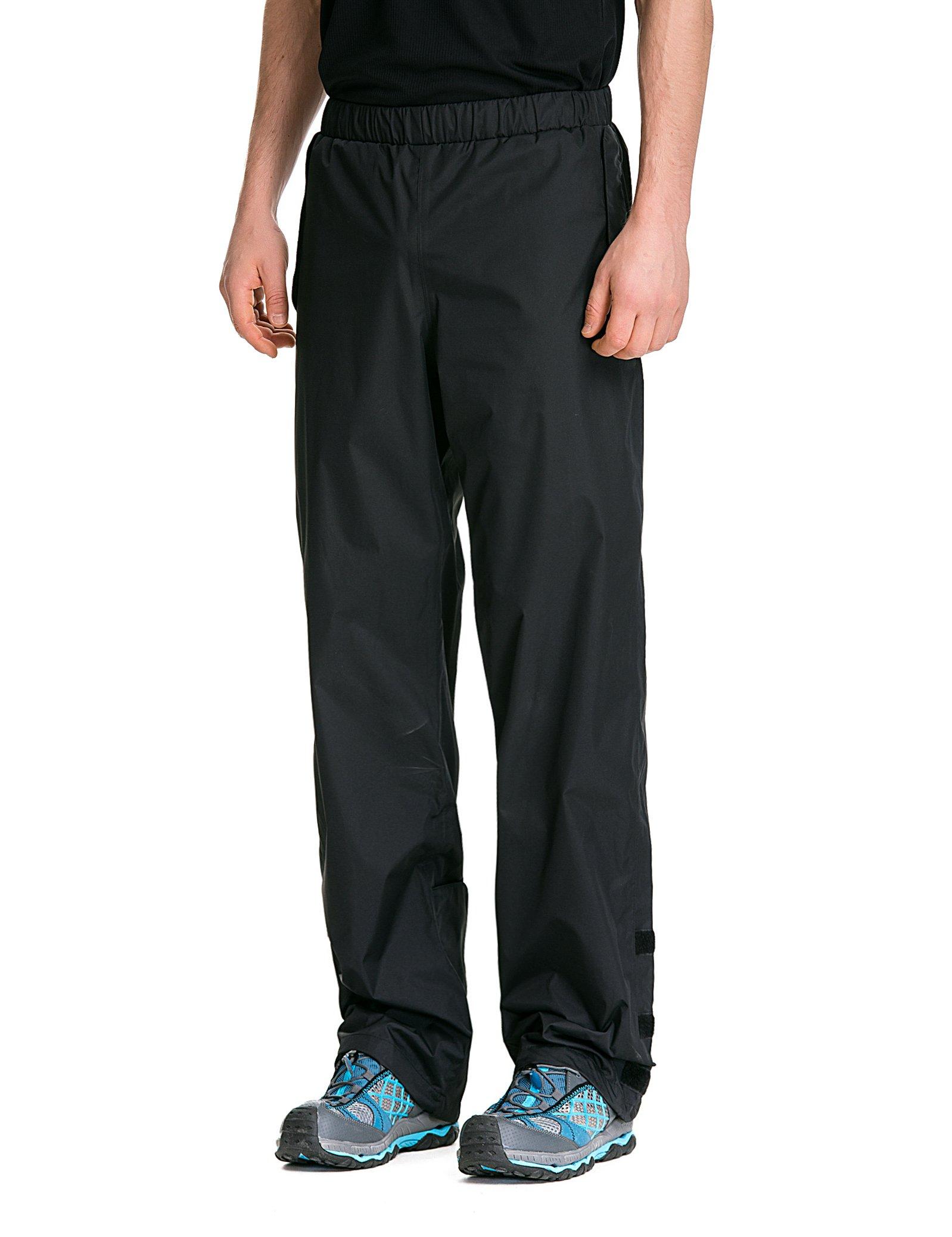 Trailside Supply Co. Men's Waterproof Windproof Elastic-Waist Rain Pants (Black,X-Large) by Trailside Supply Co. (Image #4)