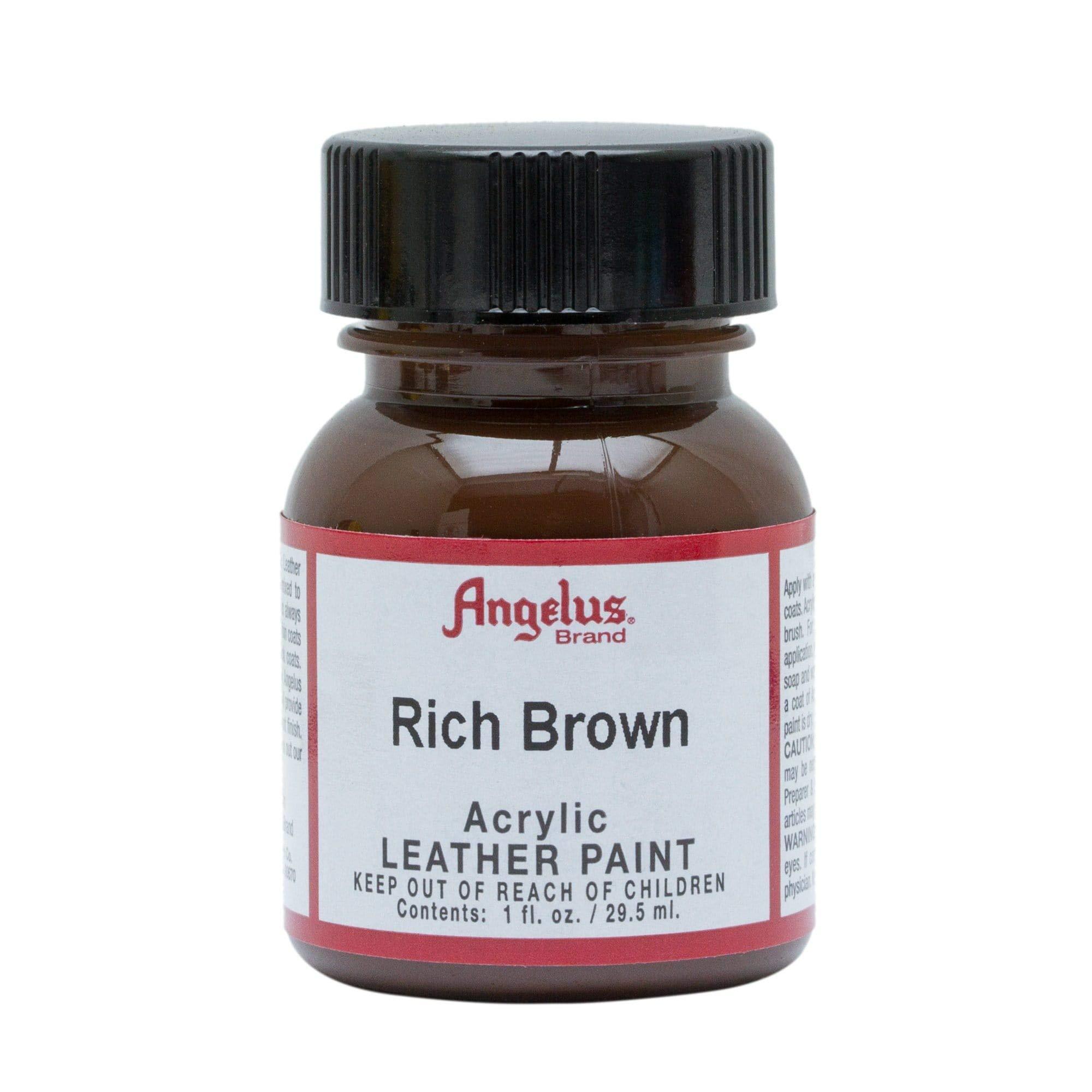 Angelus Pintura acrílica para cuero marrón intenso 29.5ml