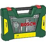 Bosch V-Line - Maletín de 68 unidades para taladrar y atornillar