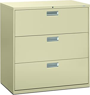 product image for HON 693LL 600 Series 42-Inch by 19-1/4-Inch 3-Drawer Lateral File, Putty