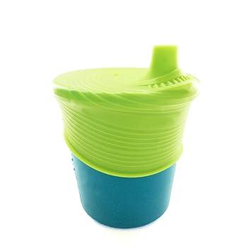 GoSili Silikids Siliskin - Taza de silicona, color verde y verde: Amazon.es: Bebé