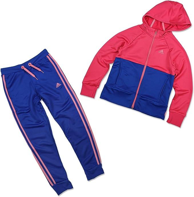 adidas YG PES TS Mädchen Trainingsanzug Jogginganzug Freizeit blau NEU