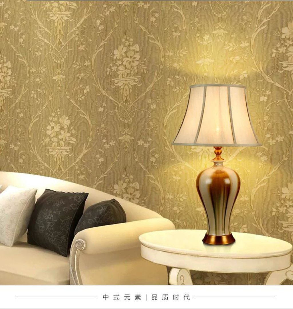 Amazon.com: BJXM Ceramic LED Desk Lamp Living Room Study Bedroom ...