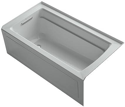 KOHLER K-1123-LA-95 Archer 5-Foot Bath, Ice Grey - Recessed Bathtubs ...