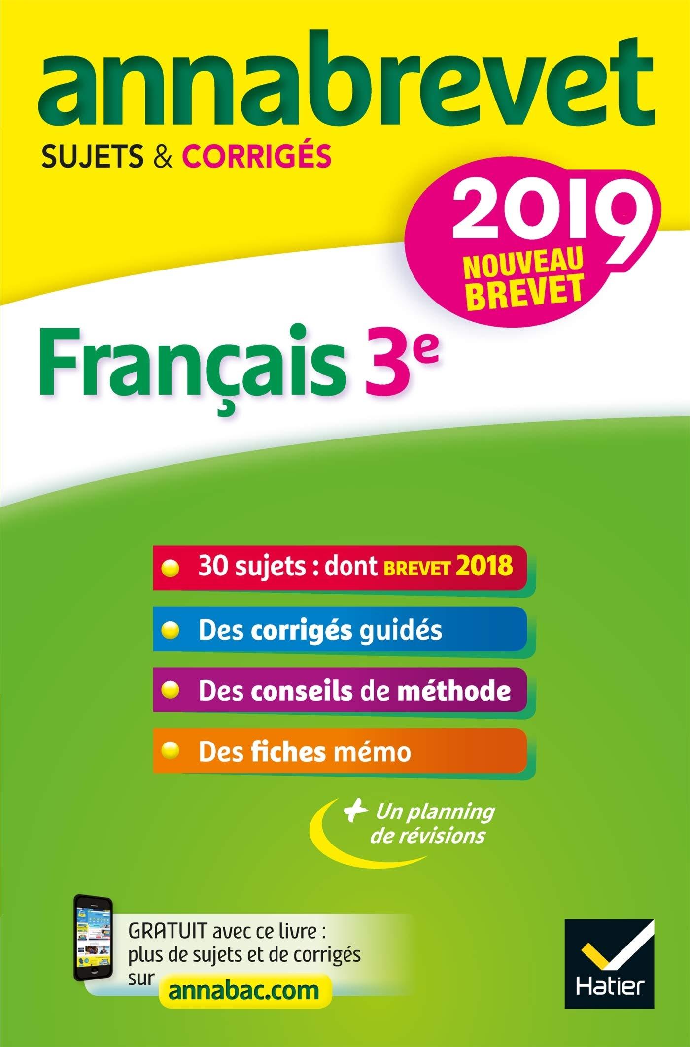 Amazon Fr Annales Du Brevet Annabrevet 2019 Francais 3e