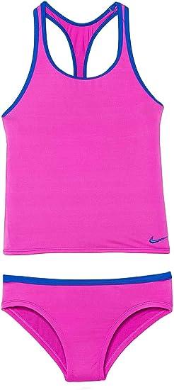 Amazon.com Nike Kids Girl\u0027s Solid Racerback Sport Tankini