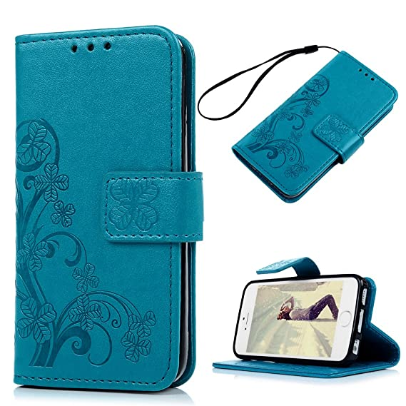 size 40 26795 f9936 Amazon.com: iPhone SE Case, iPhone 5S Wallet Case, iPhone 5 Case for ...