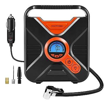 Alloyseed Compresor de Aire Portátil Digital Bomba de Aire Eléctrica Auto Pantalla con Digital Inflado de Neumático 12 V 150 PSI de neumáticos de ...